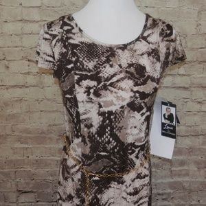 NEW Sexy Snake Print Small Stretch Long Full Dress